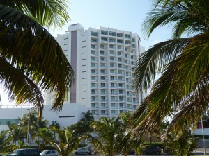 The Hyatt Regency Cancun is functional, not grandiose. Photo credit: M. Ciavardini