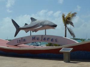 The Gray Line cruise via catamaran to Isla Mujeres was crowded but fun. Photo credit: M. Ciavardini