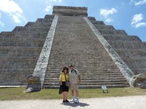 The view from beyond the ropes at Chichen Itza today. Photo credit: A Kindly Stranger
