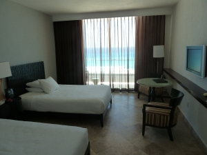 A waterfront room at the Hyatt Regency Cancun. Photo credit: M. Ciavardini