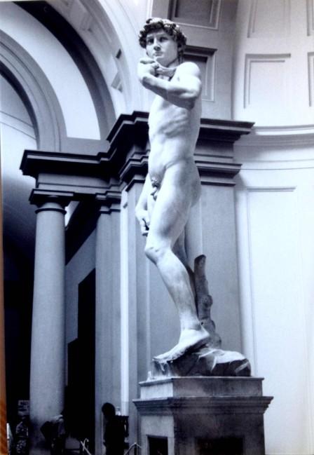 Statue of David, Florence, 1989. Photo credit: L. Tripoli